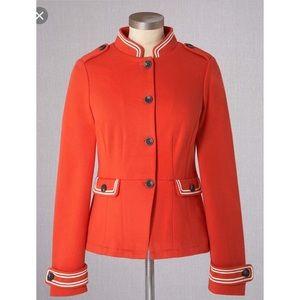 Boden military jacket blazer monrovia knit ponte